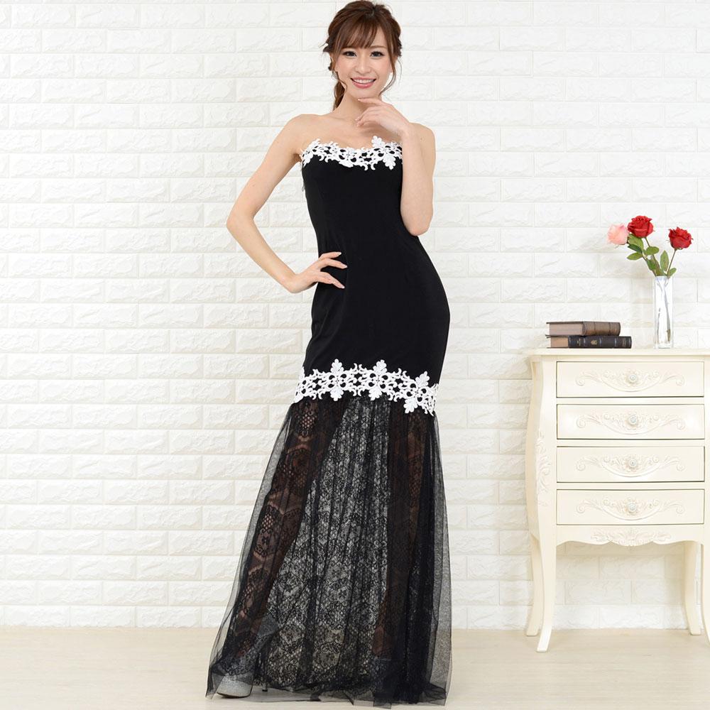 7e546871405d2 キャバドレス ドレスキャバ セクシー ロングドレス パーティードレス セール目玉商品 レターパック発送で送料無料 透け足魅せレースマーメイドロングドレス