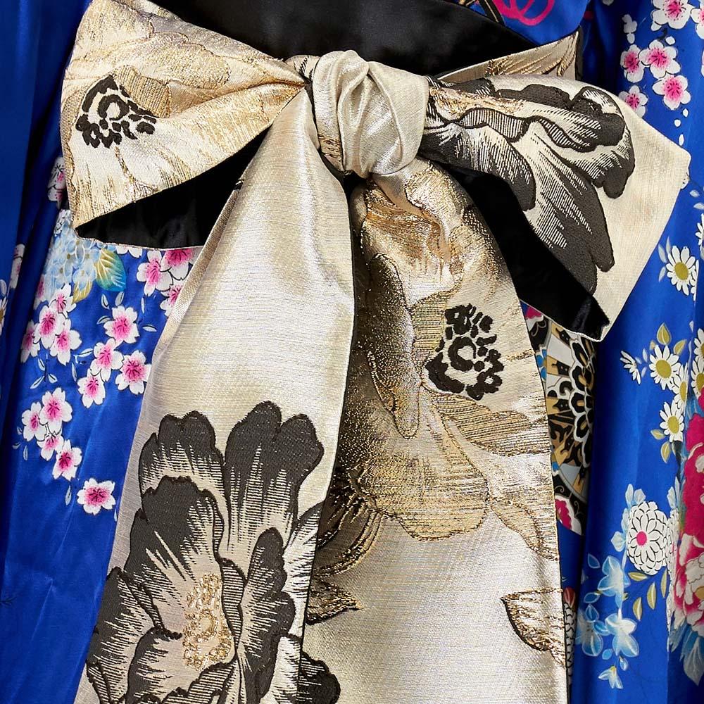 花魁コスプレロング仮装コスプレ和服着物花魁ドレスよさこい衣装着物コスプレセクシー巫女コスプレ送料無料サテン和柄フリルゴージャスロング着物ドレスブラック