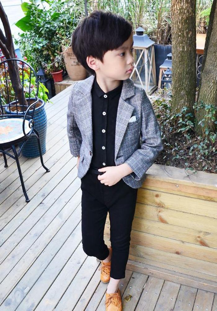 130f6e8835f1b 男の子スーツツイードチェック上下セットジャケットパンツギンガムチェックフォーマル男の子フォーマル子供服ベビー