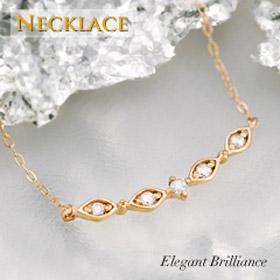 K10 ゴールド ネックレス デコルテ バー ダイヤモンド プレゼント 結婚祝い 出産祝い ホワイトデー モバナナ