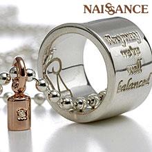 【NAISSANCE】【送料無料】ダイヤ入りの分銅が心のバランスを保ってくれる!balance(天秤)レディースシルバーペンダント PA-14 プレゼント 母の日 ギフト