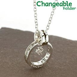 リングホルダー ペンダント【changeable】【送料無料】ゴシックテイストの唐草リング&クロスチャームのホルダーセット 指輪をネックレスにする 通す プレゼント 母の日 ギフト
