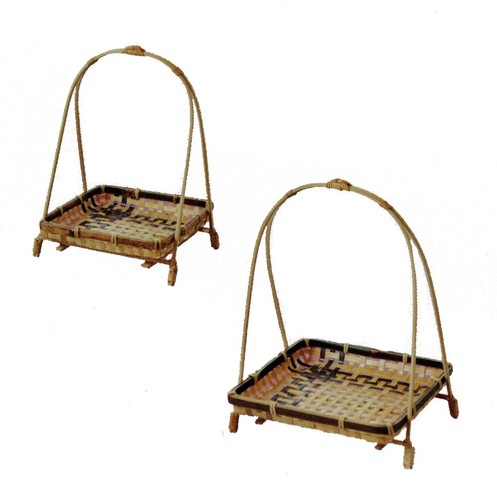 和食器 盛皿 天ぷら皿 盛り皿 返品送料無料 盛り篭 14-12 大 和食皿 激安特価品 中皿 四ツ目角ワンタッチ虎竹