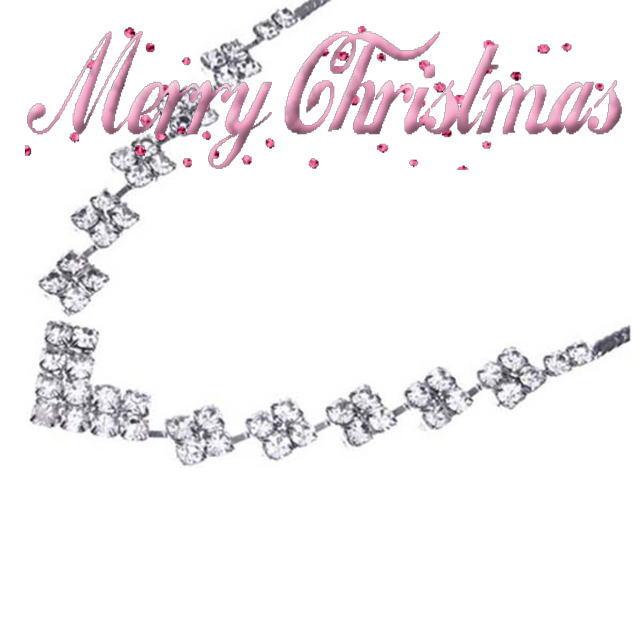 クリスマス パーティーネックレス キュービックジルコニア 【メール便対応】 n145