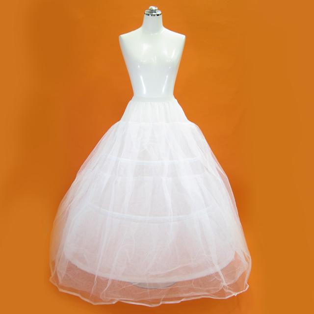 3段ワイヤー入りパニエ プリンセスドレス用 フリーサイズ n132
