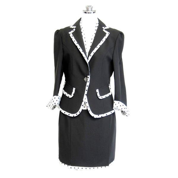 ベスト付きスーツ 3点セット アンサンブルスーツ ブラック 9号 n24