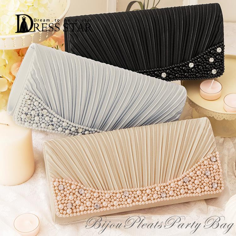 f0da86144c DressStar  Party bag size grain 2way clutch bag handbag bag party ...