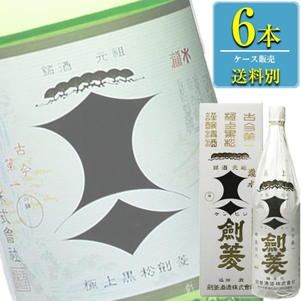 剣菱酒造 極上 黒松剣菱 1.8L瓶 x 6本ケース販売 (清酒) (日本酒) (兵庫)