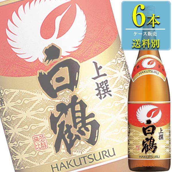 白鶴酒造 上撰 白鶴 1.8L瓶 x 6本ケース販売 (清酒) (日本酒) (兵庫)