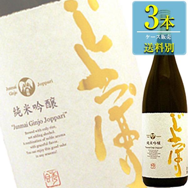 六花酒造 純米吟醸 じょっぱり 1800ml瓶 x3本ケース販売 (清酒) (日本酒) (青森)