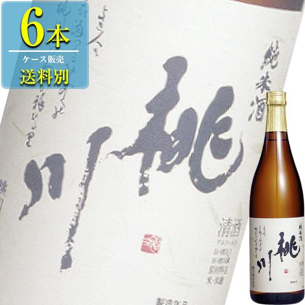 桃川 純米酒 720ml瓶 x 6本ケース販売 (清酒) (日本酒) (青森)