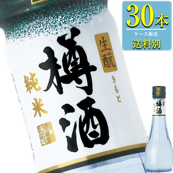 菊正宗 上撰 純米樽酒 雫瓶 180ml瓶 x 30本ケース販売 (清酒) (日本酒) (兵庫)