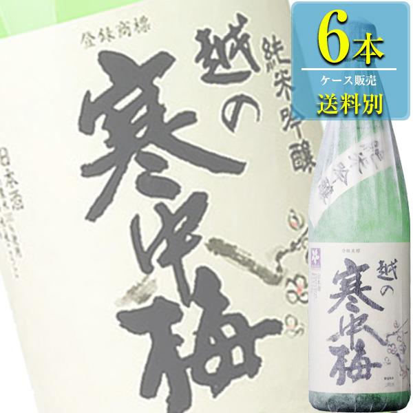 新潟銘醸 越の寒中梅 純米吟醸 1.8L瓶 x 6本ケース販売 (清酒) (日本酒) (新潟)