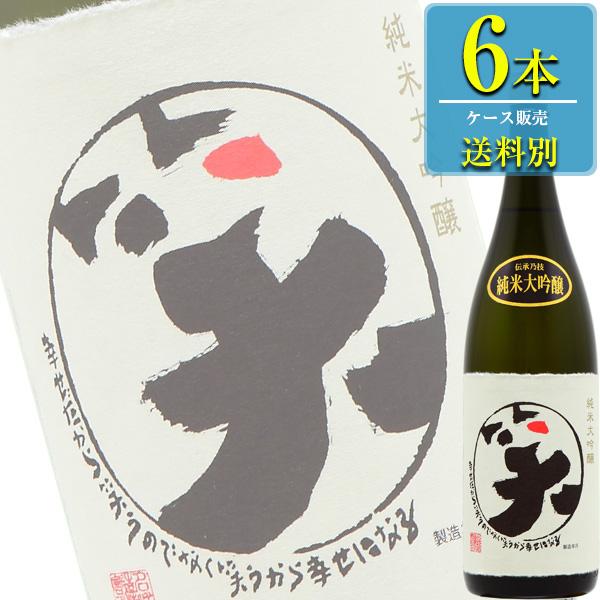 名城酒造 まるわらい 純米大吟醸 1800ml瓶 x6本ケース販売 (清酒) (日本酒) (兵庫)