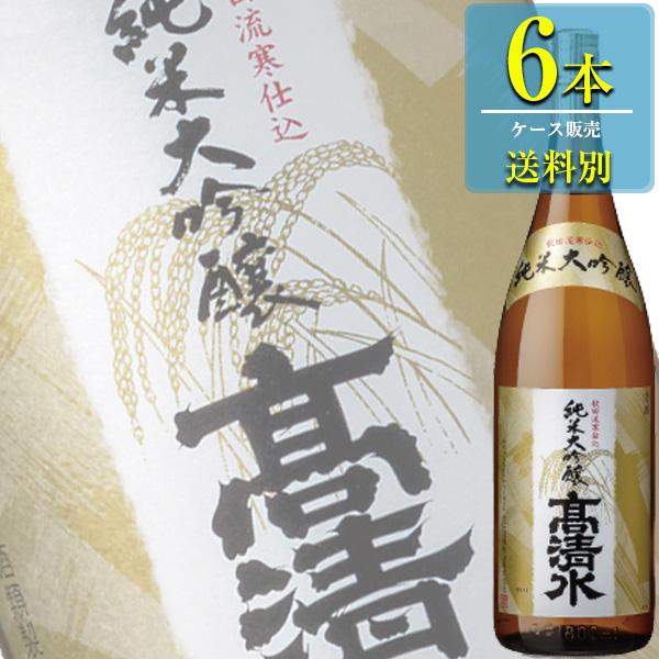 秋田酒類製造高清水「純米大吟醸」1.8L瓶x6本ケース販売【清酒】【日本酒】【秋田】