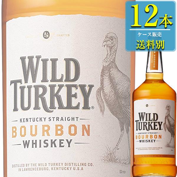 ワイルドターキー スタンダード 1L瓶 x12本ケース販売 (アメリカンウイスキー) (バーボン)