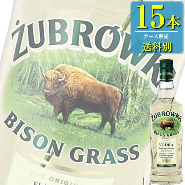 ズブロッカ バイソングラス ウォッカ (37.5% ) 500ml瓶 x15本ケース販売(スピリッツ)(フレーバードウオッカ)(LJ)