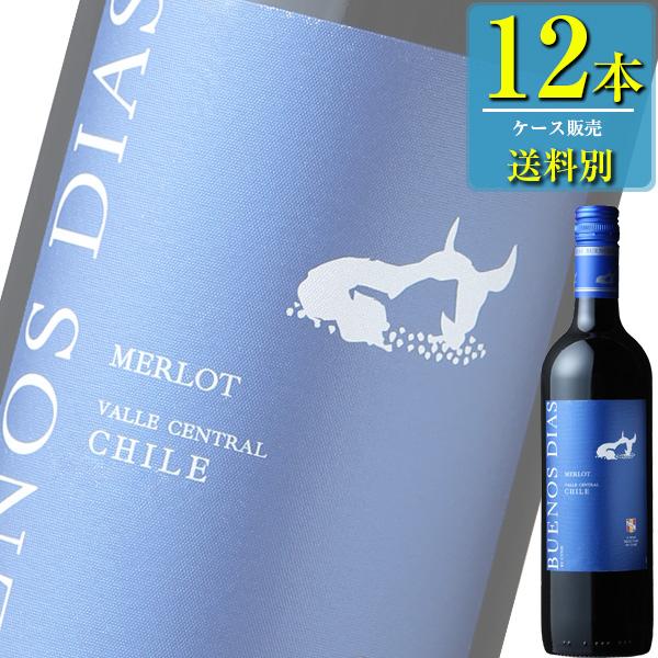 ブエノス ディアス メルロー (赤) 750ml瓶 x 12本ケース販売 (チリ) (赤ワイン) (フルボディ) (MI)