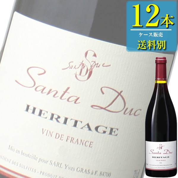 ドメーヌ サンタ デュック エリタージュ (赤) 750ml瓶 x12本ケース販売 (フランス) (赤ワイン) (ミディアム) (IN)