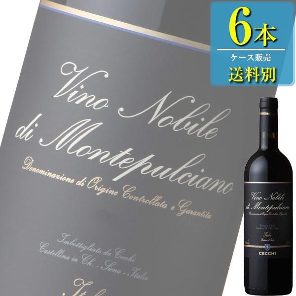「チェッキ ヴィノ ノビレ ディ モンテプルチアーノ(赤)」750ml瓶x6本ケース販売【イタリア】【赤ワイン】【ミディアム】【MI】