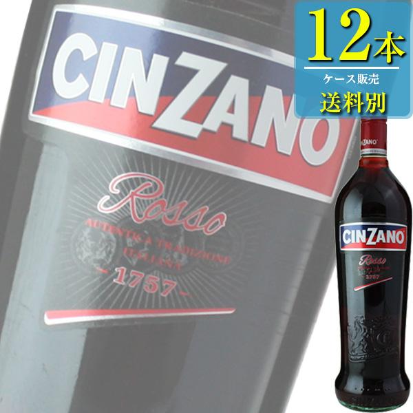 チンザノ ベルモット ロッソ (赤) 1L瓶 x12本ケース販売 (イタリア) (ベルモット) (SNT)