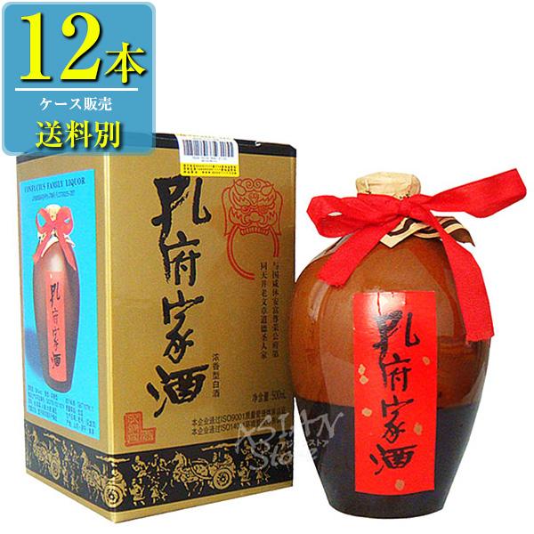 日和商事 孔府家酒 (コウフカシュ) 500ml瓶 x12本ケース販売 (白酒) (中国酒)