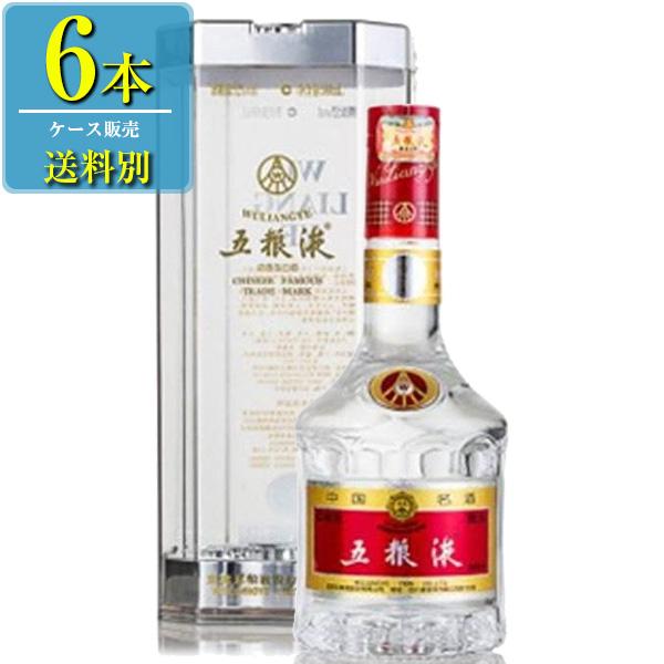 日和商事 五粮液 (ゴリョウエキ) 500ml瓶 x6本ケース販売 (白酒) (中国酒)
