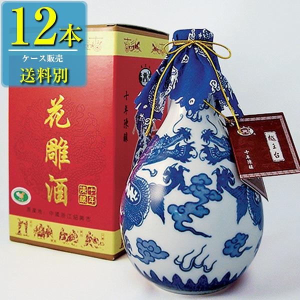 日和商事 越王台陳年 10年 花彫酒 白磁 500ml x12本ケース販売 (紹興酒) (中国酒)