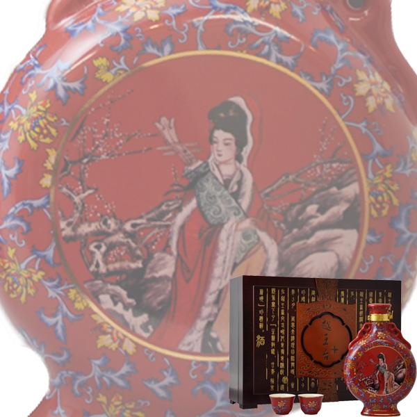 (単品) 日和商事 越王台陳年 25年 花彫酒 壷 600ml瓶 (紹興酒) (中国酒)