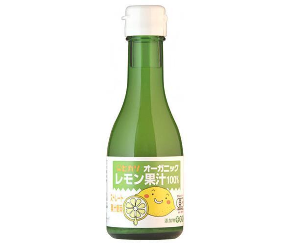 送料無料 【2ケースセット】光食品 オーガニックレモン果汁 180ml瓶×12本入×(2ケース) ※北海道・沖縄・離島は別途送料が必要。