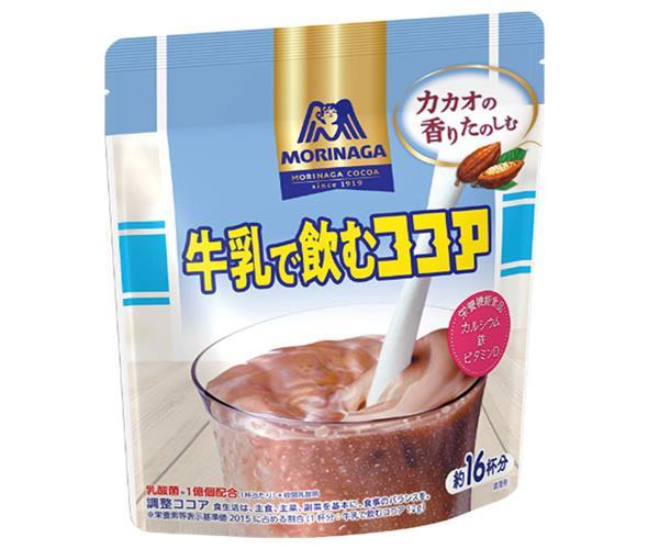 送料無料 【2ケースセット】森永製菓 牛乳で飲むココア 200g袋×24(12×2)袋入×(2ケース) ※北海道・沖縄・離島は別途送料が必要。