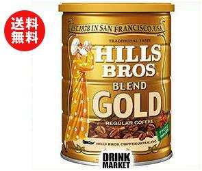 【送料無料】日本ヒルスコーヒー ヒルス ブレンドゴールド(粉) 283g缶×12(6×2)個入 ※北海道・沖縄・離島は別途送料が必要。