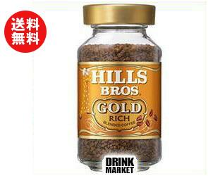 送料無料 【2ケースセット】日本ヒルスコーヒー ヒルス ブレンドゴールド 90g瓶×12本入×(2ケース) ※北海道・沖縄・離島は別途送料が必要。