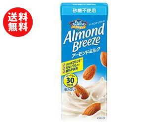 送料無料 ブルーダイヤモンド アーモンド・ブリーズ 砂糖不使用 200ml紙パック×24本入 ※北海道・沖縄・離島は別途送料が必要。