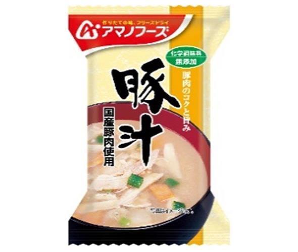 送料無料 アマノフーズ フリーズドライ 化学調味料無添加 豚汁 10食×12箱入 北海道・沖縄・離島は別途送料が必要。