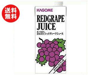 【送料無料】【2ケースセット】カゴメ レッドグレープジュース(ホテルレストラン用) 1L紙パック×12(6×2)本入×(2ケース) ※北海道・沖縄・離島は別途送料が必要。
