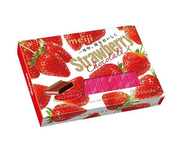 送料無料 明治 ストロベリーチョコレートBOX 26枚×6箱入 ※北海道・沖縄・離島は別途送料が必要。
