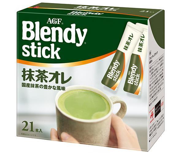 【送料無料】【2ケースセット】AGF ブレンディ スティック 抹茶オレ 10g×21本×6箱入×(2ケース) ※北海道・沖縄・離島は別途送料が必要。