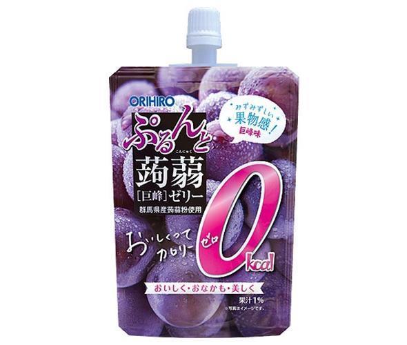 送料無料 【2ケースセット】 オリヒロ  ぷるんと蒟蒻ゼリー 0kcal  巨峰  130gパウチ×48本入×(2ケース)  北海道·沖縄·離島は別途送料が必要。
