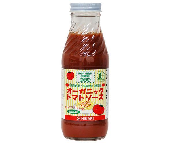 送料無料 【2ケースセット】光食品 オーガニック トマトソース あっさりトマト味 365g瓶×20本入×(2ケース) ※北海道・沖縄・離島は別途送料が必要。