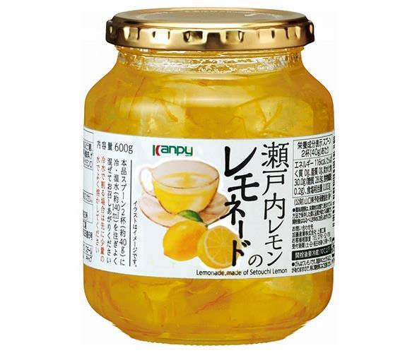 送料無料 【2ケースセット】  カンピー 瀬戸内レモンのレモネード  600g×12個入×(2ケース)  北海道·沖縄·離島は別途送料が必要。