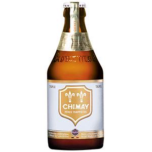 【送料無料】【三井食品】CHIMAY White(シメイ ホワイト) ベルギービール 330ml瓶 1ケース(24本入)