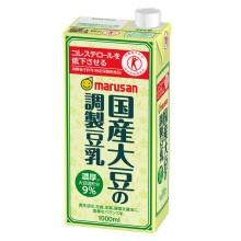 送料無料 北海道 沖縄および一部離島は別途料金が加算されます 国産大豆の調製豆乳 1L 商店 1000ml トクホ 本店 1ケース6本×3ケース 18本 特定保健用食品 マルサン