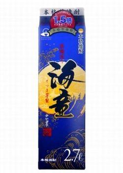 【あす楽!!送料無料!!】鹿児島 濱田酒造 海童 黒麹 本格芋焼酎 25度 2.7Lパック(2700ml)2ケース(8本)