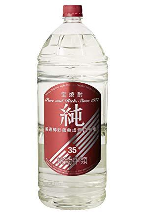 送料無料 お得 北海道 海外並行輸入正規品 沖縄及び離島除く 最安値目指します 宝酒造 宝焼酎 4Lエコペット 35度 4本入 1ケース 純