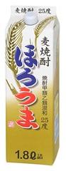 【送料無料】キング醸造 甲乙混和 麦焼酎 ほろうま 麦 25度 1.8Lパック(1800ml) 2ケース(12本)