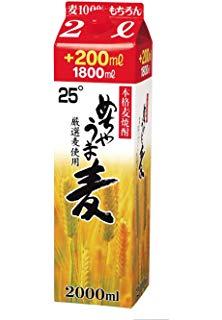 【送料無料】鷹正宗 めちゃうま 麦焼酎 25度 2L(2000ml) 2ケース(12本)