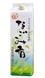 【あす楽対象商品!!送料無料!!】福徳長酒類 なごみ香 麦焼酎 25度 1.8Lパック 2ケース(12本)