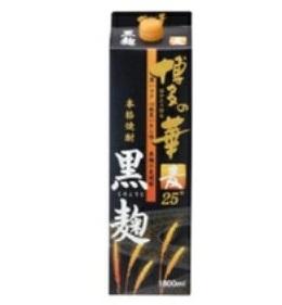 【送料無料】福徳長酒類 博多の華 黒麹の麦焼酎 本格麦焼酎 25度 1.8Lパック(1800ml) 2ケース(12本)