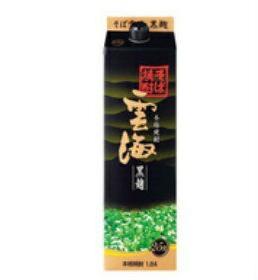 【送料無料】雲海酒造 雲海 黒麹 そば焼酎 25度 1.8Lパック 1ケース(6本入)